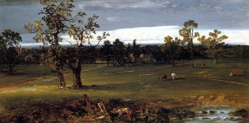 At Pasture scenery John Frederick Kensett Landscapes brook Oil Paintings