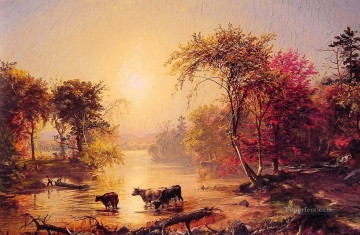 Autumn in America landscape Jasper Francis Cropsey brook Oil Paintings