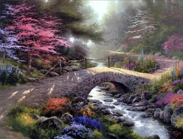 Bridge Of Faith Thomas Kinkade Landscapes brook Oil Paintings