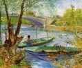 Fishing in the Spring Vincent van Gogh Landscapes brook