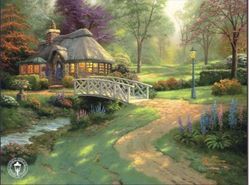 Friendship Cottage Thomas Kinkade Landscapes brook Oil Paintings