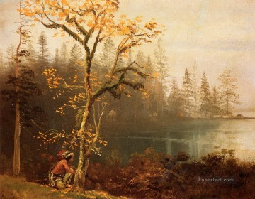 scout Painting - Indian Scout Albert Bierstadt Landscapes brook