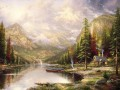Mountain Majesty Thomas Kinkade Landscapes brook painting