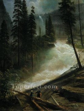Yosemite Art - Nevada Falls Yosemite Albert Bierstadt Landscapes brook