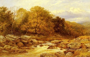 wales Art Painting - On The Llugwy North Wales landscape Benjamin Williams Leader brook