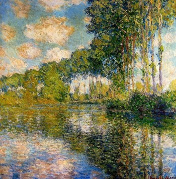 monet banks of the seine Painting - Poplars on the Banks of the River Epte Claude Monet Landscapes
