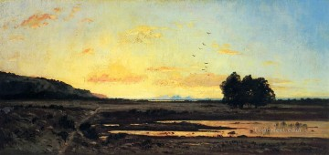 Rememberance of la Caru Sunset scenery Paul Camille Guigou Landscapes brook Oil Paintings