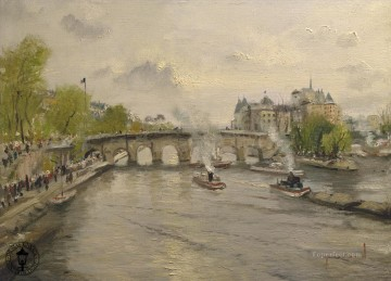 River Seine Thomas Kinkade Landscapes Oil Paintings