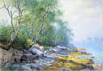 Seal Harbor Mount Desert Maine scenery William Stanley Haseltine Landscapes brook Oil Paintings