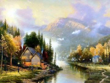 Simpler Times I Thomas Kinkade Landscapes brook Oil Paintings