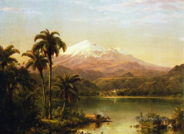 Tamaca Palms2 scenery Hudson River Frederic Edwin Church Landscapes Oil Paintings