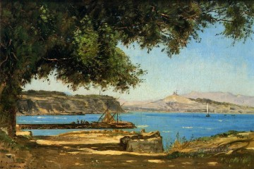 Tamaris by the Sea at Saint Andre near Marseille scenery Paul Camille Guigou Landscapes brook Oil Paintings