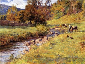 indiana art - Tennessee Scene Impressionist Indiana landscapes Theodore Clement Steele brook