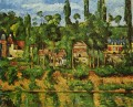 The Chateau de Medan Paul Cezanne Landscapes brook