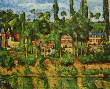 The Chateau de Medan Paul Cezanne Landscapes brook Oil Paintings