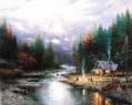 The End Of A Perfect Day II Thomas Kinkade Landscapes brook