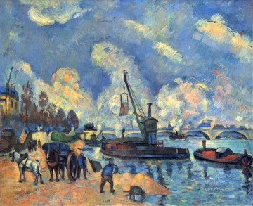 The Seine at Bercy Paul Cezanne Landscapes stream Oil Paintings