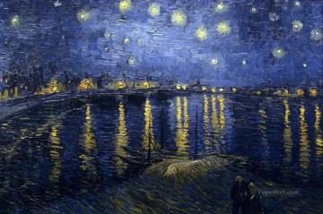 The Starry Night 2 Vincent van Gogh Landscapes stream Oil Paintings
