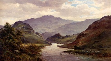 The landscape Alfred de Breanski Snr brook Oil Paintings