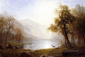 Valley in Kings Canyon Albert Bierstadt Landscapes stream Oil Paintings