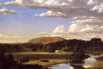 West Rock New Haven scenery Hudson River Frederic Edwin Church Landscapes Oil Paintings
