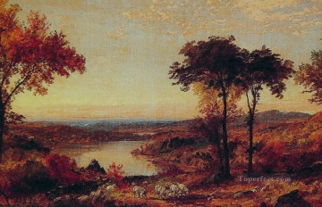 Brook River Stream Painting - red Wyoming Valley Pennsylvania landscape Jasper Francis Cropsey brook