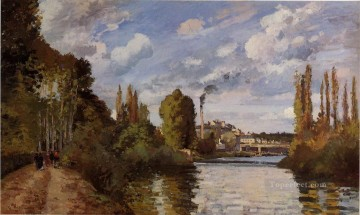 riverbanks in pontoise 1872 Camille Pissarro Landscapes Oil Paintings