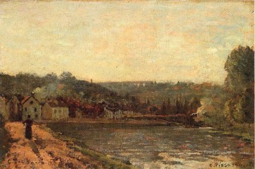 monet banks of the seine Painting - the banks of the seine at bougival 1871 Camille Pissarro Landscapes brook