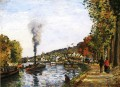 the seine at marly 1871 Camille Pissarro Landscapes stream