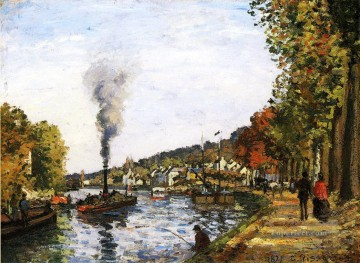 the seine at marly 1871 Camille Pissarro Landscapes stream Oil Paintings