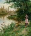 A Walk by the River Alfred Glendening JR scenery