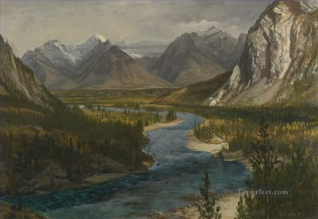 BOW RIVER VALLEY CANADIAN ROCKIES American Albert Bierstadt landscape Oil Paintings