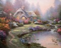Everett Cottage Thomas Kinkade Landscapes stream