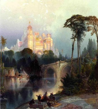 Fantastic Landscape Thomas Moran stream Oil Paintings