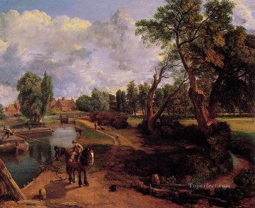 Flatford Mill CR Romantic landscape John Constable stream Oil Paintings