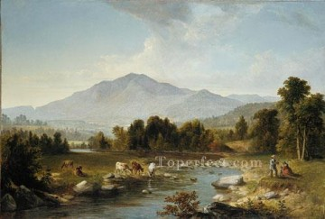 Hand Canvas - High Point Shandaken Mountains landscape Asher Brown Durand stream