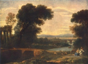 Landscape with the Rest on the Flight into Egypt 1666 Claude Lorrain stream Oil Paintings