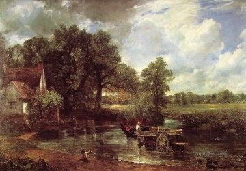 The Hay Wain Romantic landscape John Constable stream Oil Paintings