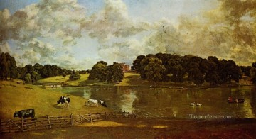 Wivenhoe Park Essex Romantic landscape John Constable stream Oil Paintings