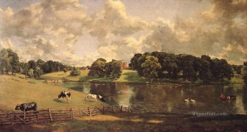 Wivenhoe Park Romantic landscape John Constable stream Oil Paintings