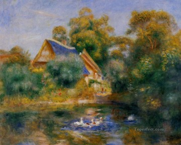la mere aux oies Pierre Auguste Renoir Landscapes stream Oil Paintings