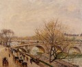 the seine at paris pont royal 1903 Camille Pissarro Landscapes stream