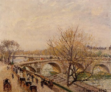 the seine at paris pont royal 1903 Camille Pissarro Landscapes stream Oil Paintings