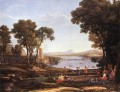 Landscape with Dancing Figures Claude Lorrain stream
