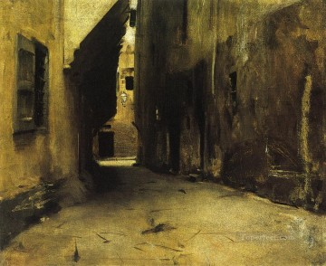 A Street in Venice2 landscape John Singer Sargent Venice Oil Paintings