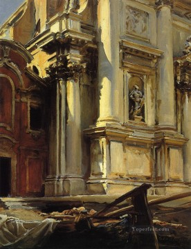 Cityscape Painting - Corner of the Church of St Stae John Singer Sargent Venice