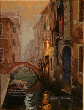 Cityscape Painting - Morning Mist in Venice