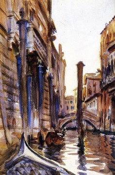 Side Canal in John Singer Sargent Venice Oil Paintings