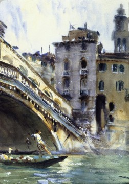 The Rialto John Singer Sargent Venice Oil Paintings
