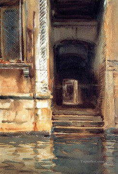 Venetian Doorway John Singer Sargent Venice Oil Paintings